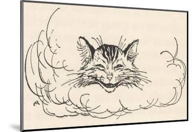 Alice: Cats Head in Cloud-Arthur Rackham-Mounted Giclee Print
