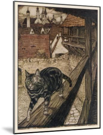 Cat and Mouse-Arthur Rackham-Mounted Giclee Print