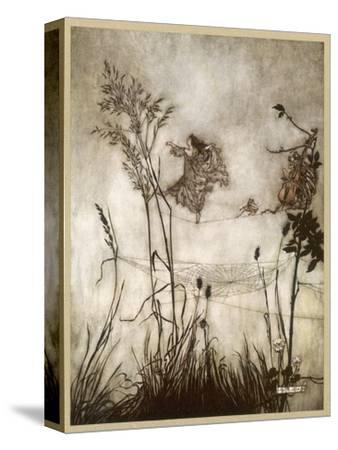 Fairies, Kensington Gdns-Arthur Rackham-Stretched Canvas Print