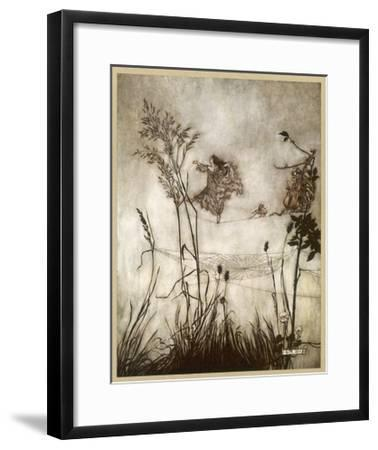 Fairies, Kensington Gdns-Arthur Rackham-Framed Giclee Print