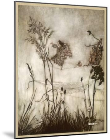 Fairies, Kensington Gdns-Arthur Rackham-Mounted Giclee Print