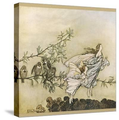Two Flying-Arthur Rackham-Stretched Canvas Print
