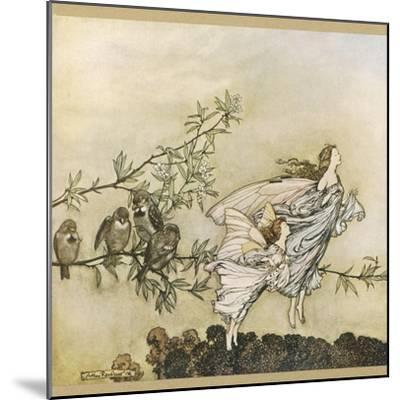 Two Flying-Arthur Rackham-Mounted Giclee Print