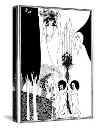 The Eyes of Herod-Aubrey Beardsley-Stretched Canvas Print