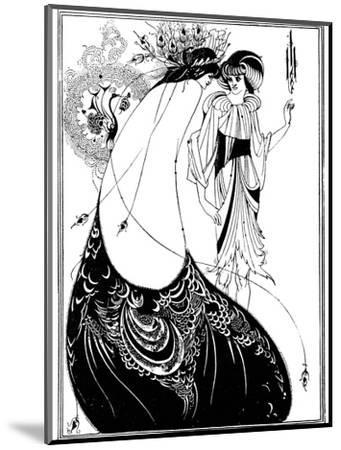The Peacock Skirt-Aubrey Beardsley-Mounted Giclee Print