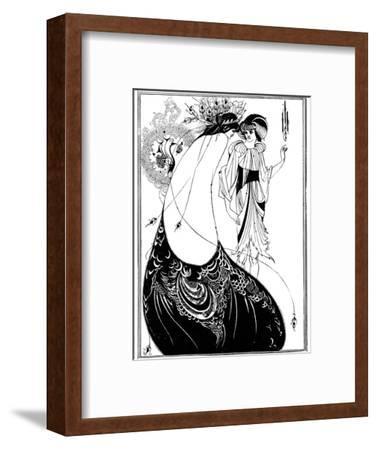 The Peacock Skirt-Aubrey Beardsley-Framed Giclee Print