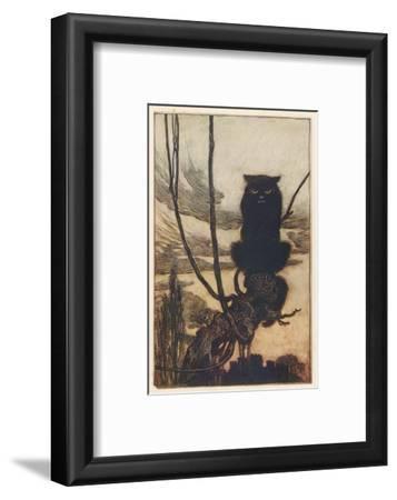 Jorinda as Owl-Arthur Rackham-Framed Giclee Print