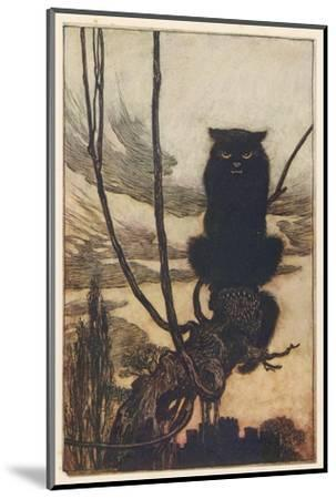 Jorinda as Owl-Arthur Rackham-Mounted Giclee Print