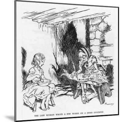 Writing on a Fish-Arthur Rackham-Mounted Giclee Print