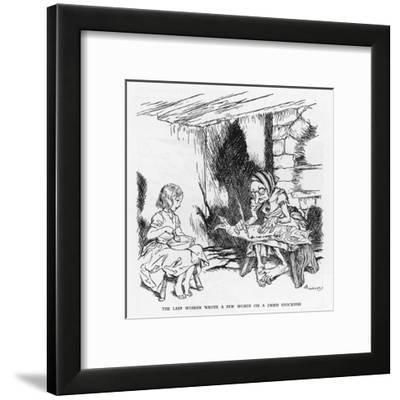 Writing on a Fish-Arthur Rackham-Framed Giclee Print