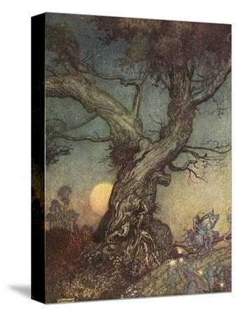 Fairy Folk-Arthur Rackham-Stretched Canvas Print
