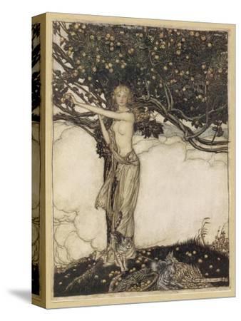Freia, the Fair One-Arthur Rackham-Stretched Canvas Print