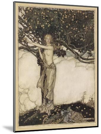 Freia, the Fair One-Arthur Rackham-Mounted Giclee Print