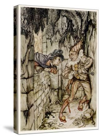The Cask of Amontillado-Arthur Rackham-Stretched Canvas Print
