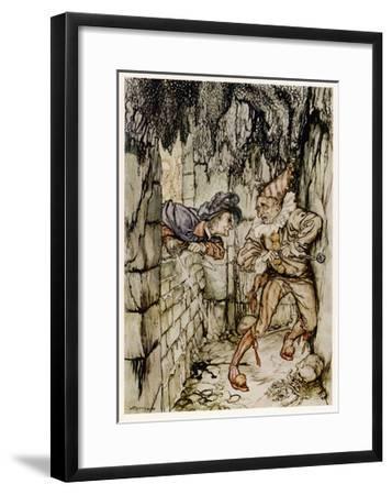 The Cask of Amontillado-Arthur Rackham-Framed Giclee Print