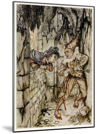 The Cask of Amontillado-Arthur Rackham-Mounted Giclee Print