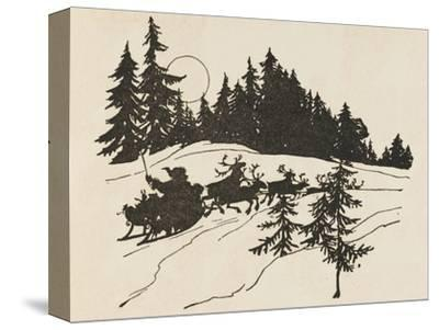 Night before Christmas-Arthur Rackham-Stretched Canvas Print