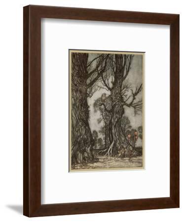 Fairy Lantern Bearers-Arthur Rackham-Framed Premium Giclee Print