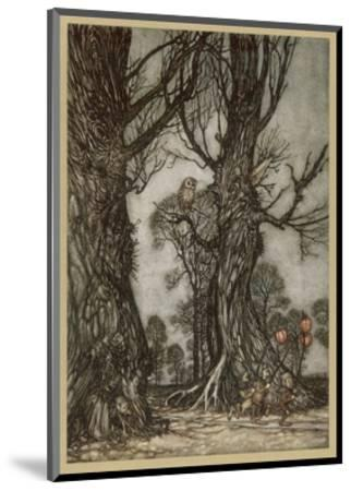 Fairy Lantern Bearers-Arthur Rackham-Mounted Premium Giclee Print