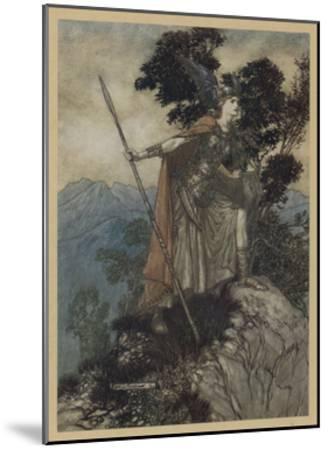 Brunnhilde-Arthur Rackham-Mounted Giclee Print