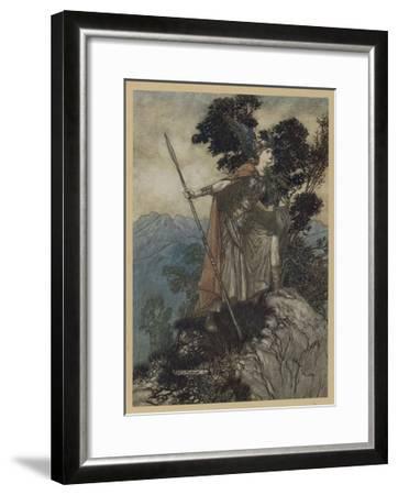 Brunnhilde-Arthur Rackham-Framed Giclee Print