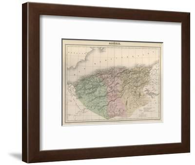 Map, Africa, Algeria C1850-AT Chartier-Framed Giclee Print