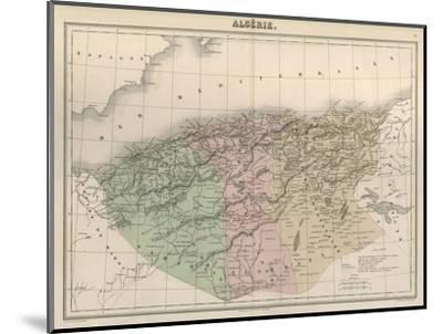 Map, Africa, Algeria C1850-AT Chartier-Mounted Giclee Print