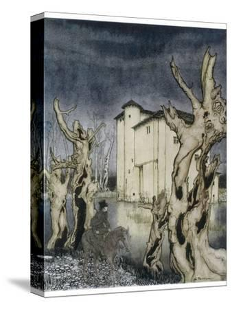 Fall of the House of Usher-Arthur Rackham-Stretched Canvas Print