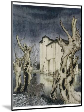 Fall of the House of Usher-Arthur Rackham-Mounted Giclee Print