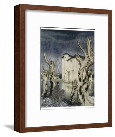 Fall of the House of Usher-Arthur Rackham-Framed Giclee Print