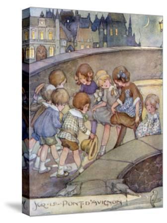 Le Pont D'Avignon-Anne Anderson-Stretched Canvas Print