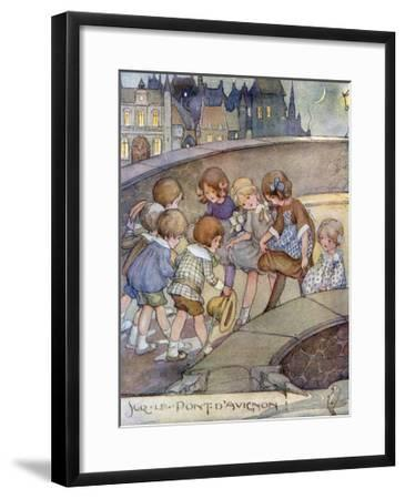 Le Pont D'Avignon-Anne Anderson-Framed Giclee Print