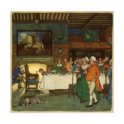 Going in to Dinner-Cecil Aldin-Framed Giclee Print