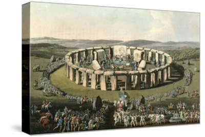 England Stonehenge-Charles Hamilton Smith-Stretched Canvas Print