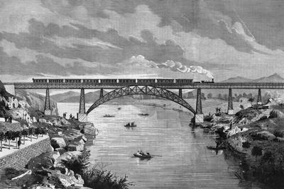 Portugal, Oporto Bridge-DL Fernandez-Stretched Canvas Print