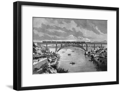 Portugal, Oporto Bridge-DL Fernandez-Framed Giclee Print