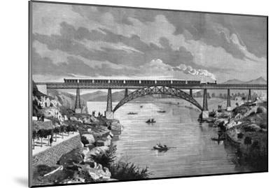 Portugal, Oporto Bridge-DL Fernandez-Mounted Giclee Print