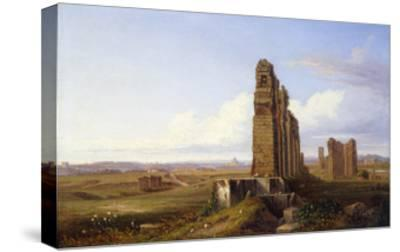 View of the Roman Campagna-Franz Knebel-Stretched Canvas Print