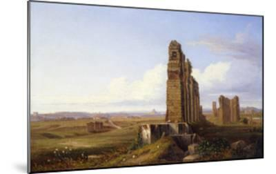 View of the Roman Campagna-Franz Knebel-Mounted Giclee Print
