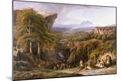 Mount Tomohrit, Albania-Edward Lear-Mounted Giclee Print