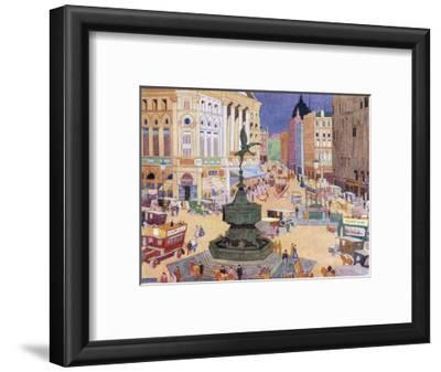 London, Piccadilly Circus-Edith Mary Garner-Framed Giclee Print