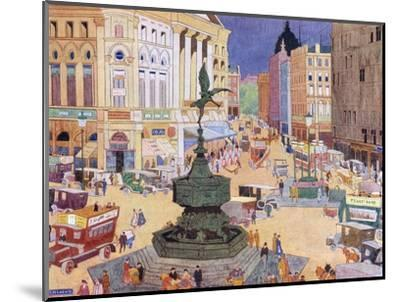 London, Piccadilly Circus-Edith Mary Garner-Mounted Giclee Print
