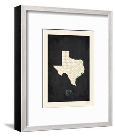 Black Map Texas-Kindred Sol Collective-Framed Premium Giclee Print