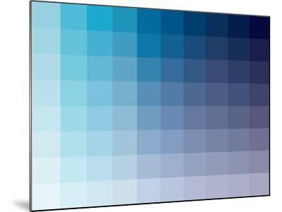 Azul Rectangle Spectrum-Kindred Sol Collective-Mounted Art Print