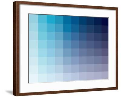 Azul Rectangle Spectrum-Kindred Sol Collective-Framed Art Print