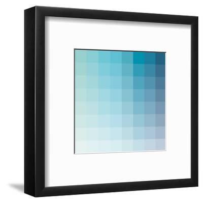 Aqua Square Spectrum-Kindred Sol Collective-Framed Art Print