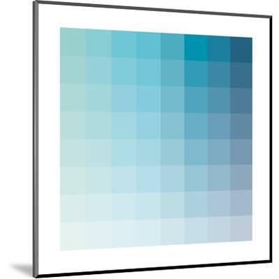 Aqua Square Spectrum-Kindred Sol Collective-Mounted Art Print