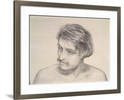 Study of a Man's Head-Robert Braithwaite Martineau-Framed Giclee Print