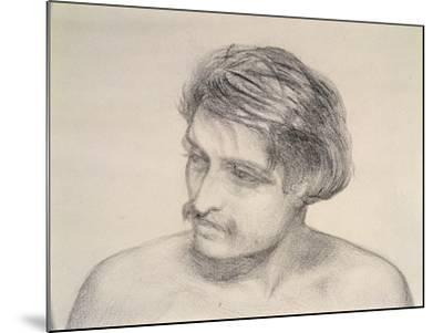 Study of a Man's Head-Robert Braithwaite Martineau-Mounted Giclee Print