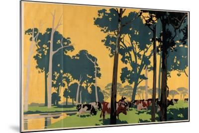 Dairying in Australia, from the Series 'Empire Buying Makes Busy Factories'-Frank Newbould-Mounted Giclee Print